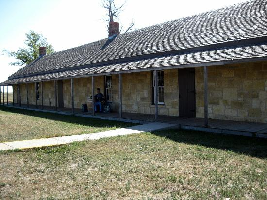 Fort Hays State Historic Site: Barracks which holds cells and sleeping quarters