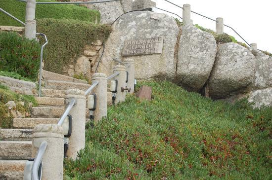 Minack Theatre: Steps hewn from the rock