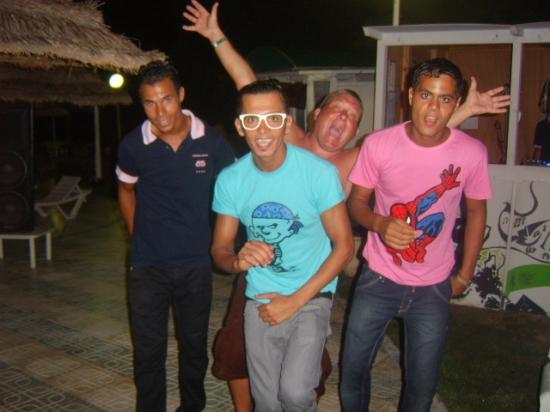 Hotel Marhaba Beach: Entertainment staff and my partner