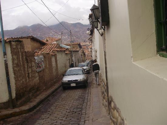 Villa San Blas: Calle de acceso