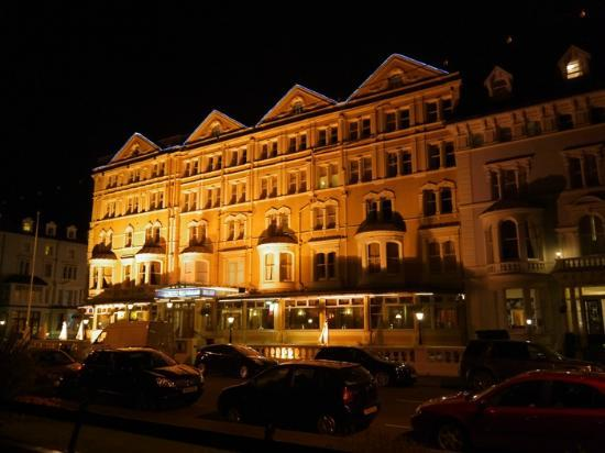 Imperial Hotel at night