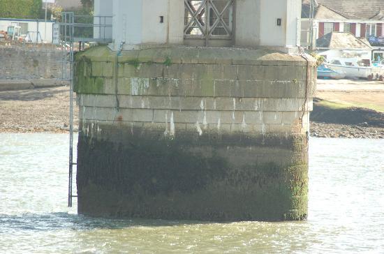 Royal Albert Bridge: One of the caissons