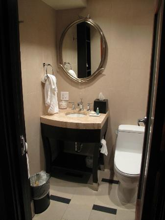The Heathman Hotel: The very small bathroom
