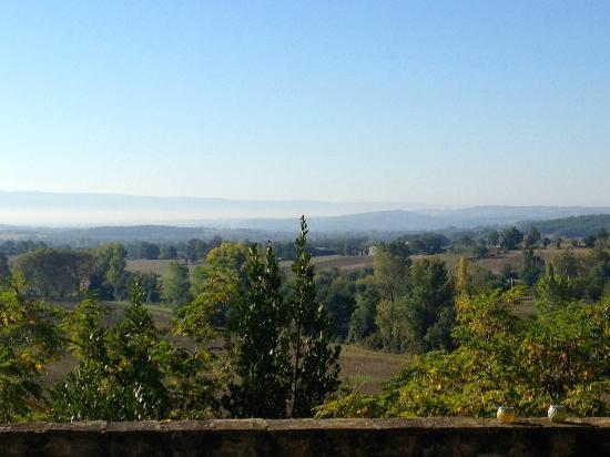 Chateau de Brametourte: View from the terrace