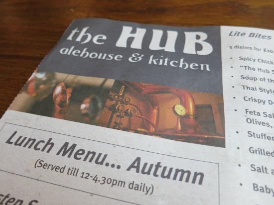 Hub Alehouse Kitchen Liverpool Menu