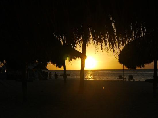 Hotel Riu Palace Aruba: Sunset on Palm Beach