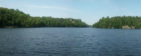 Sunny Point Resort, Cottages & Inn : Otter Lake, from the dock.