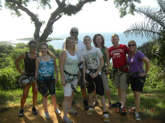 Jungle Top Zipline Adventure: Group shot before we got started!