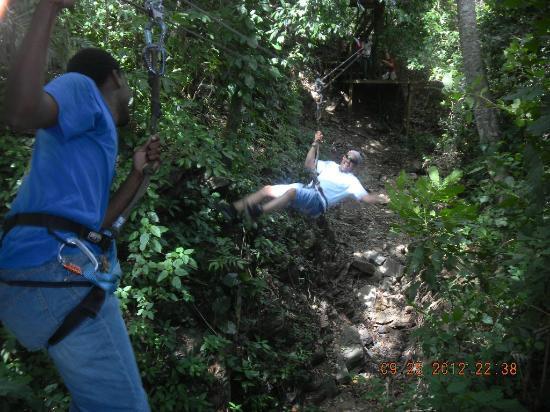 Jungle Top Zipline: Here comes Rick!