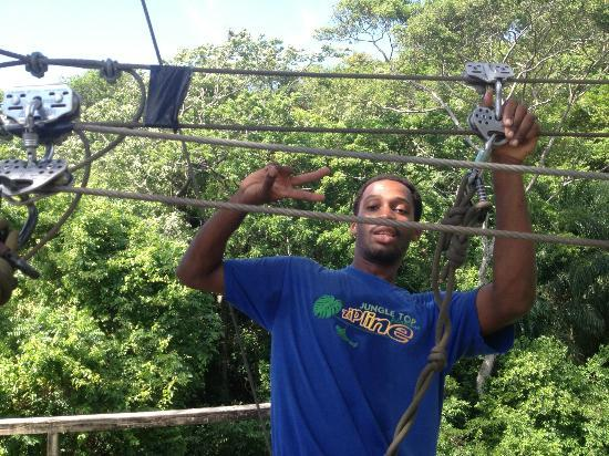 Jungle Top Zipline Adventure : Our awesome guide, Rafael!