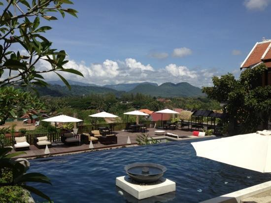 Kiridara Luang Prabang: majestic views from the pool...