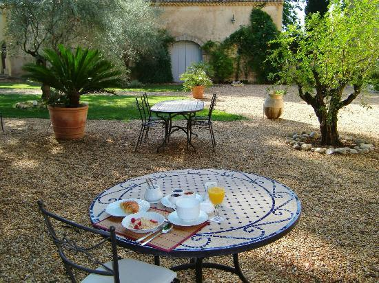 Chateau Rieutort : Breakfast in the park