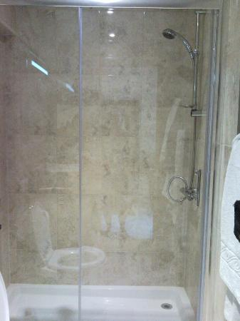 Castle Bromwich Hall Hotel: Roomy shower, with sliding doors.