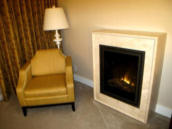 L'Hermitage Hotel: Cozy Fireplace in our room