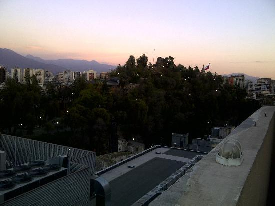 Chileapart.com: view of Cerro Santa Lucia from the roof of Tower A