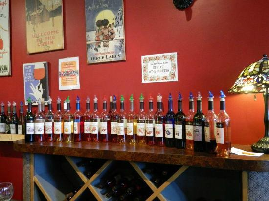 Three Lakes Winery: The selection