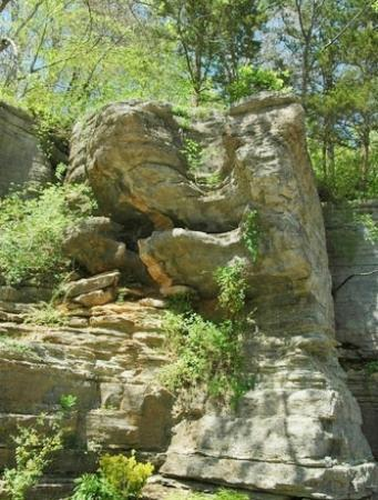 Red Bud Manor: Beautiful rock formation in Eureka Springs