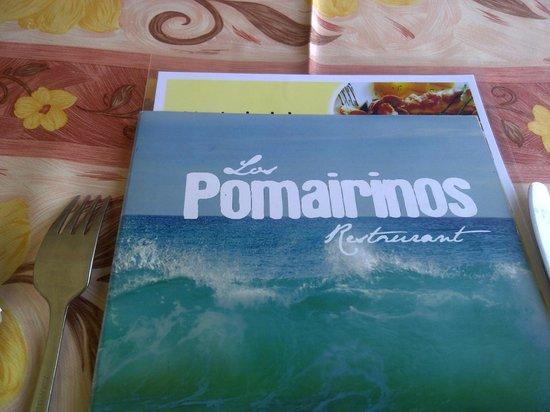 Los Pomairinos: menu