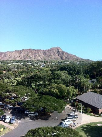 Castle Waikiki Grand Hotel: Perfect view from the 10th floor observation deck