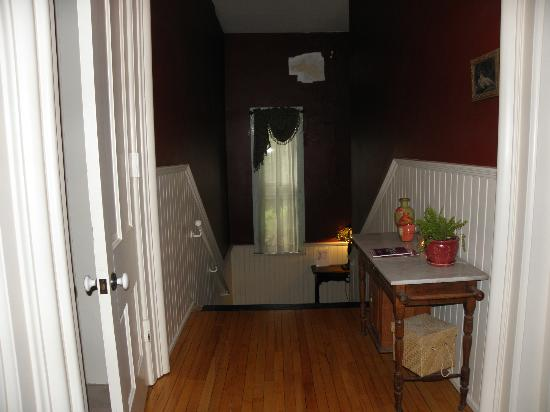 Apartment size fridge behind that curtain for floor to share ...