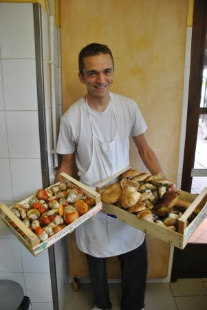 Serravalle Langhe, Italija: Massimo and His Mushrooms