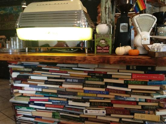 The Socialist Pig : The counter sits on.... books!