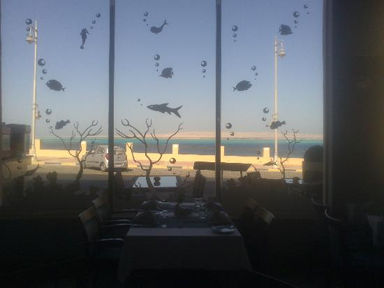 Grand Fish Restaurant : The view from inside