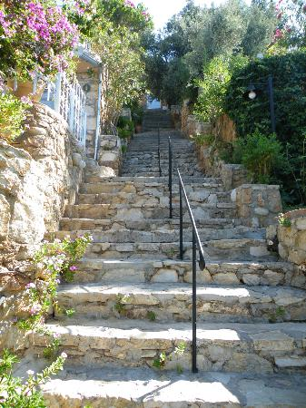 Beyaz Yunus Hotel: Quite a few steps....