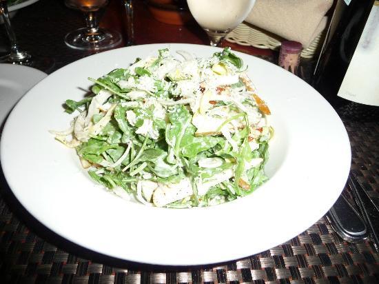 Restaurant La Petite Cachee : salade de poire et roquette