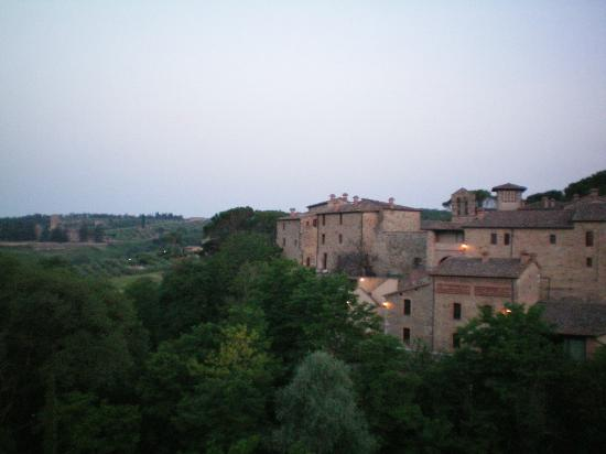 Castel Monastero: the view from my room