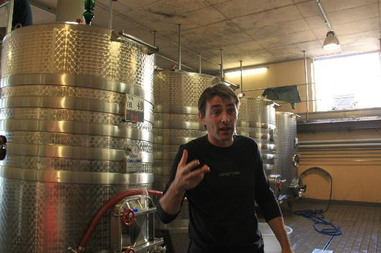 Tuscan Wine Tours by Grape Tours: Pierre explaining the wine process