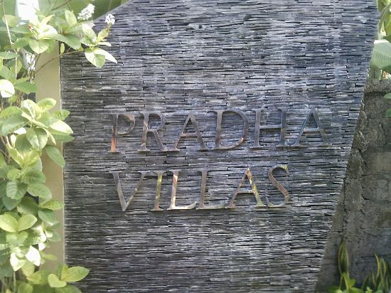 Pradha Villas: Property Sign