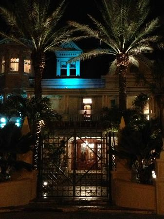 The Southernmost House at night