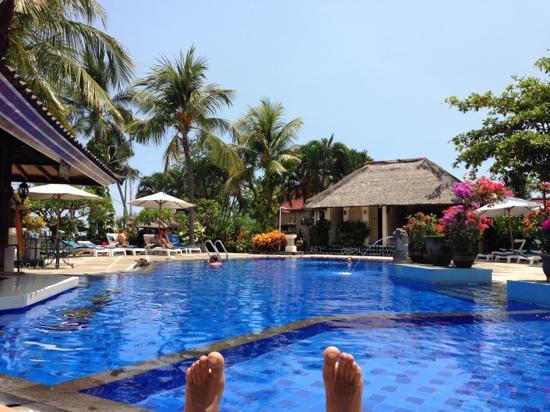 Aneka Lovina Beach Hotel: aneka poolside