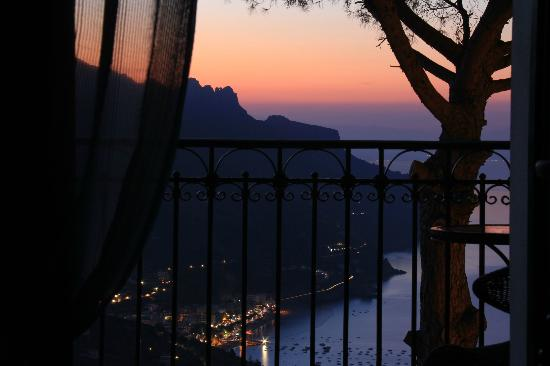 Auditorium Rooms: Sunrise over Amalfi Coast, as seen from our bed!