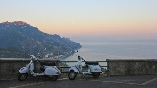 Sunset on the Amalfi Coast from outside the Auditorium Rooms