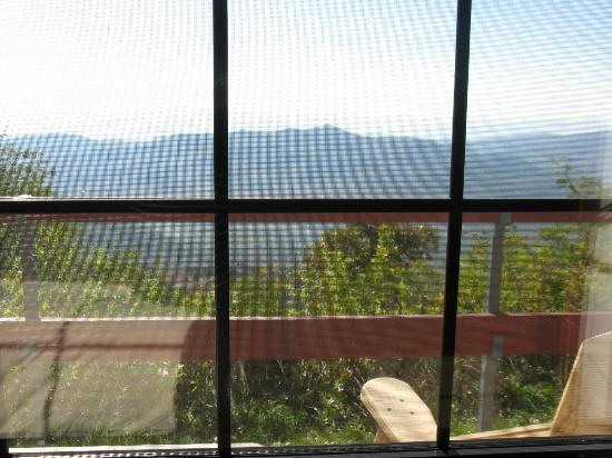 Pisgah Inn: view through our window