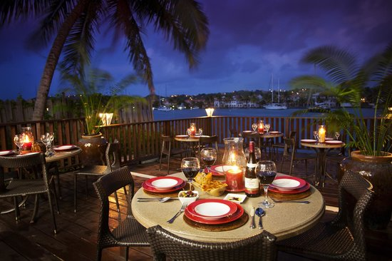 Tapas On The Bay : Right on Rodney Bay Marina, by the mall dinghy dock.