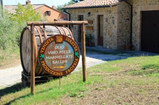 Agriturismo Villa Mazzi: Entrance to little store on site selling Villa Mazzi's own jams, honey, olive oil and wines. Can