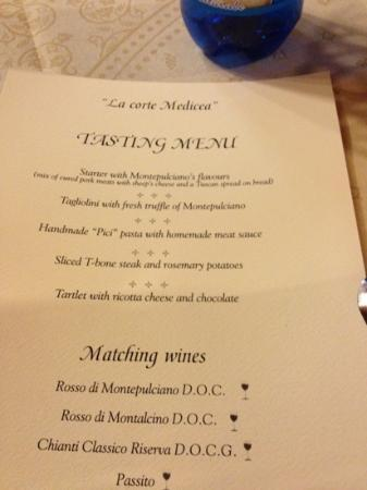 "Agriturismo Villa Mazzi: ""La Corte Medicea"" in Montepulciano. Their tasting menu was our first introduction & we returned"