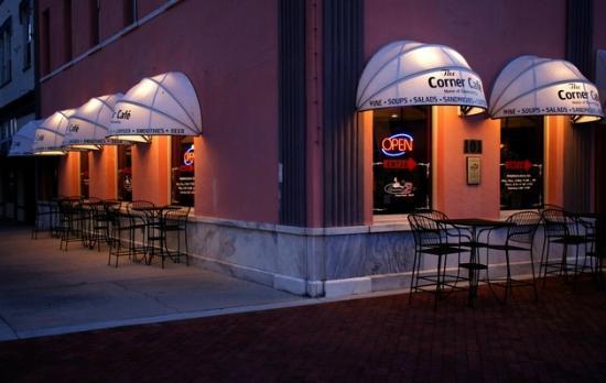 The Corner Cafe at Night
