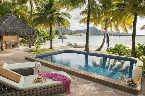 The St. Regis Bora Bora Resort: Pool Beach Terrace and Pool