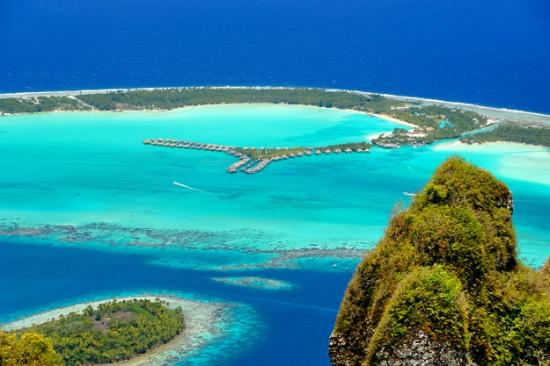 The St. Regis Bora Bora Resort: Aerial of Resort