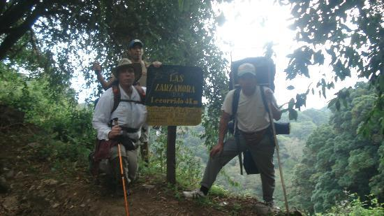 Volcan Baru National Park: On the way up with guide Eduardo and my wife's nephew, Nachito