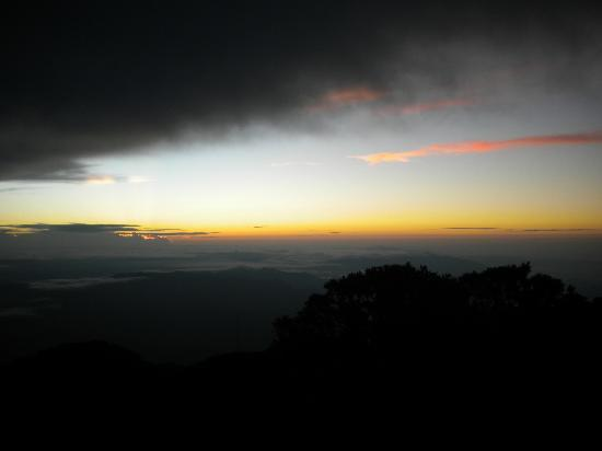Volcan Baru National Park: Sort of eery photo about 20 minutes before sunrise