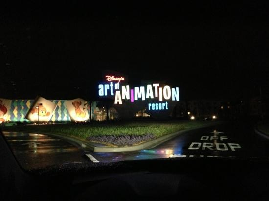 Disney's Art of Animation Resort: Driving Up