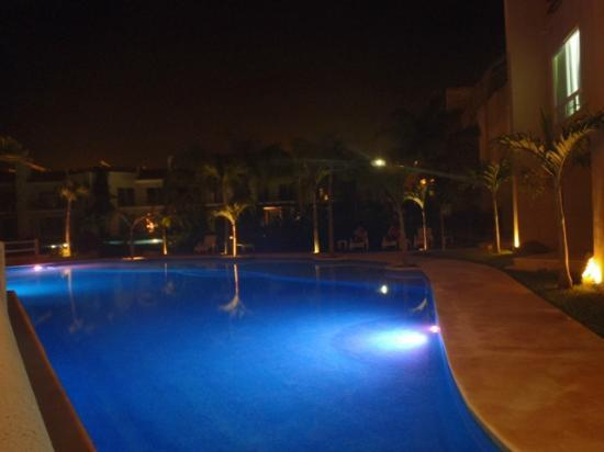 Coral Maya: The Pool @ night