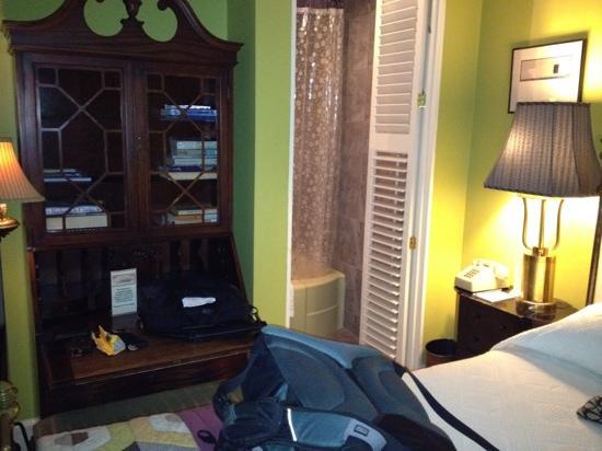 Tabard Inn: bedside secretary