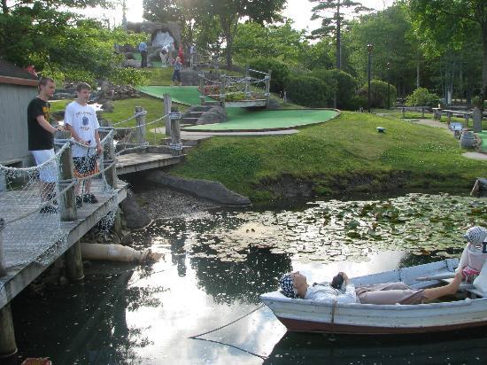 "Pirate's Cove Miniature Golf: Bridge across the ""river"""