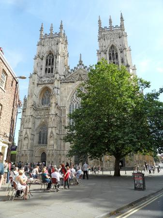 The Gillygate: York Minster nearby